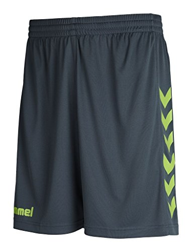 Hummel Herren Core Poly Shorts, Dark Slate/Green Flash, M, 11-083-1616