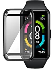 Soft Case For HUAWEI Band 6 / Honor Band 6. TPU Silicon All-Around Screen Protector Cover Bumper Protector Full Cover Screen Protection (black)