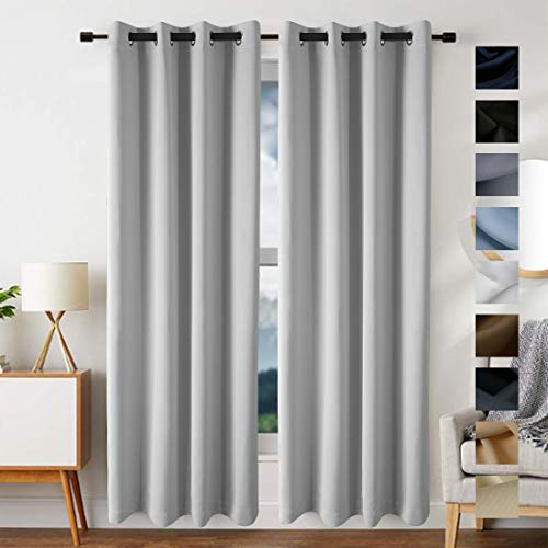 FREELIFE Blackout Curtains Drapery Panels Window Treatment Sets Blackout Curtains/Panels for Bedroom/Living Room Window/Kitchen(2 Panels,W52xL95 inch Length,Off White) ()