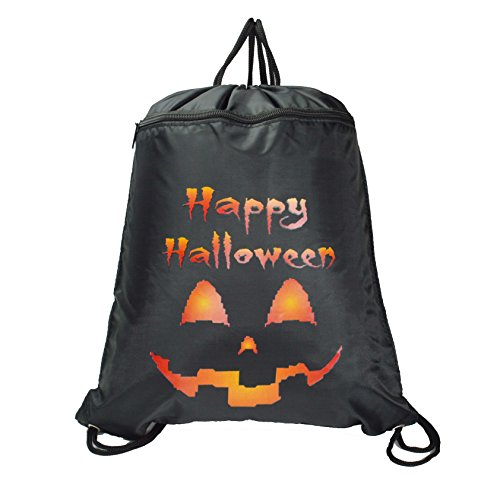 DALIX HALLOWEEN Treat Bag Pumpkin Drawstring Backpack Tote Sock Sack Pack