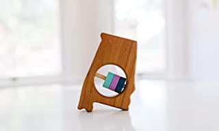 Alabama State Wooden Baby Rattle ™