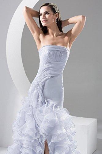 BRIDE Spaltung Gaze Hellblau Stilvoll der geschichtete GEORGE ParteiKleid vor Sdqfqg