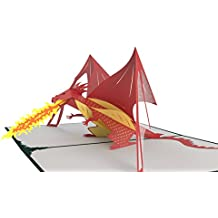 Lovepop Dragon Pop Up Card, 3D Card, Greeting Card, Birthday Card