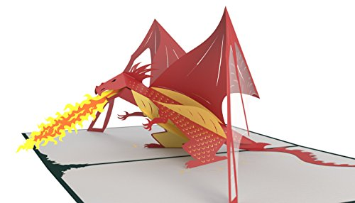 Lovepop Dragon Pop Up Card, Happy Father's Day Card, Pop Up Card, Father's Day Card, 3D Card, Greeting Cards Dad, 3D Dragon Card
