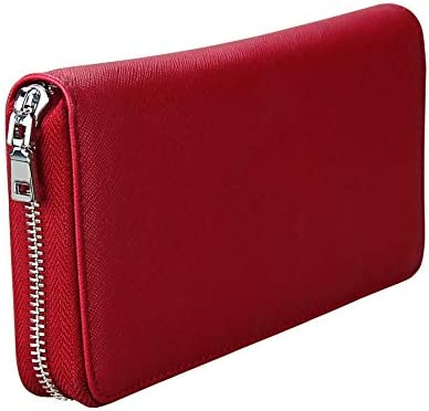 Color: Rose red Gimax Card /& ID Holders Uniego Genuine Leather Unisex ID Card Holder RFID Card Wallet Passport Cover Business Credit Card Holder Passport Holder HB206