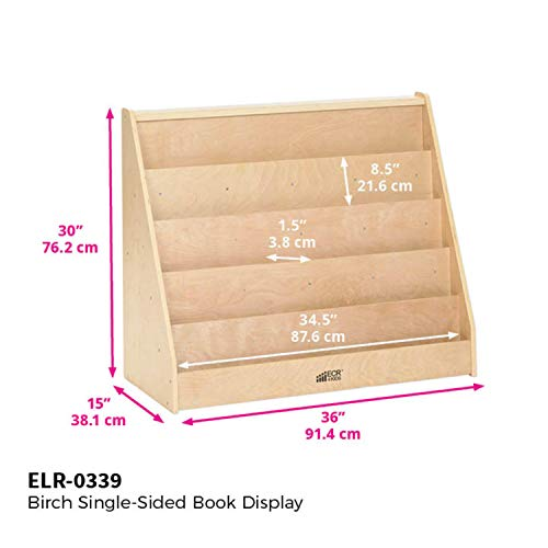 ECR40Kids Birch Hardwood SingleSided Book Case Display Stand For Magnificent Wooden Book Display Stand