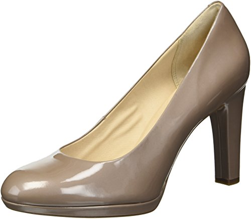 Rockport Women's Ally Plain Pump, Taupe Grey Patent, 8.5 M US