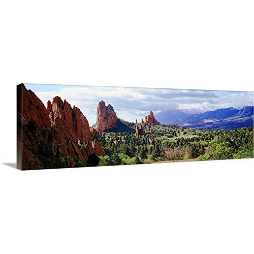 Rock Formations on a Landscape, Garden of The Gods, Colorado Springs, Colorado Canvas Wall Art