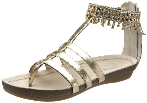 o Sandal,Gold,37.5 EU/7.5 M US (Apepazza Leather Sandals)