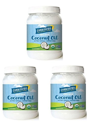 Carrington Farms Organic Extra Virgin Coconut Oil, 54 Ounce, 3 Pack by Carrington Farms (Image #2)