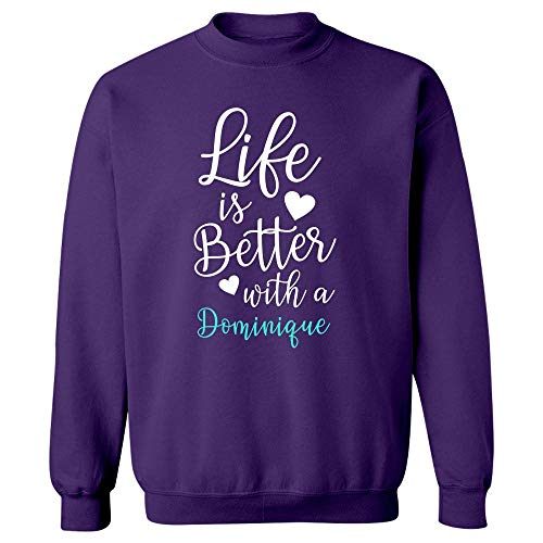 MESS Life is Better with A Dominique - Sweatshirt Purple