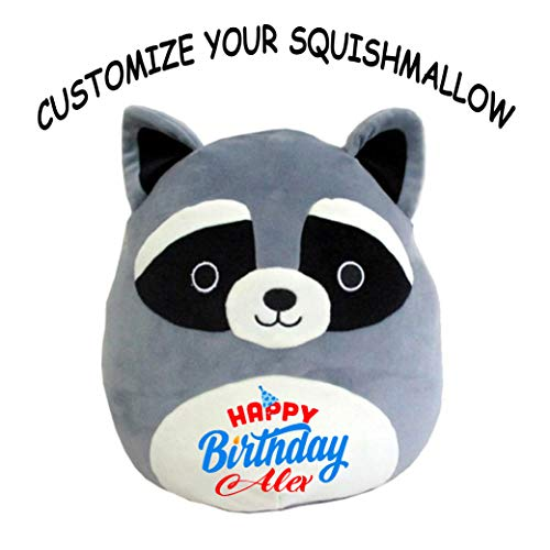 Create Your Own Stuffed Animal - Squishmallow Customized Happy Birthday Original Kellytoy