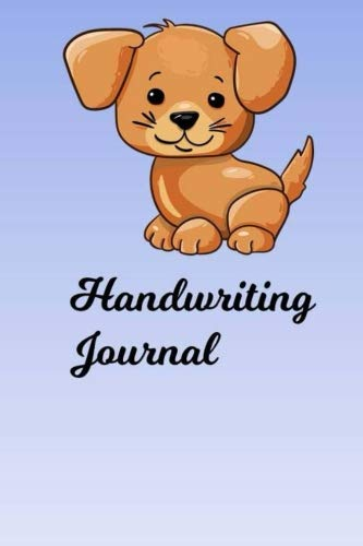 Handwriting Journal: Practice writing cursive and see the improvement over time (Puppy Text Symbol)