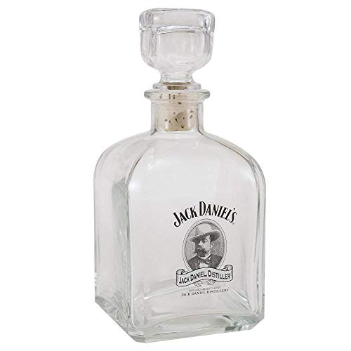 Jack Daniels Cameo Design Glass Whiskey Decanter, used for sale  Delivered anywhere in USA
