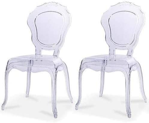 Amazon Com 2xhome Belle Style Ghost Chair Ghost Armchair Dining Room Chair Armchair Lounge Chair Seat Higher Fine Modern Designer Artistic Classic Mold Clear Bella X2 Kitchen Dining