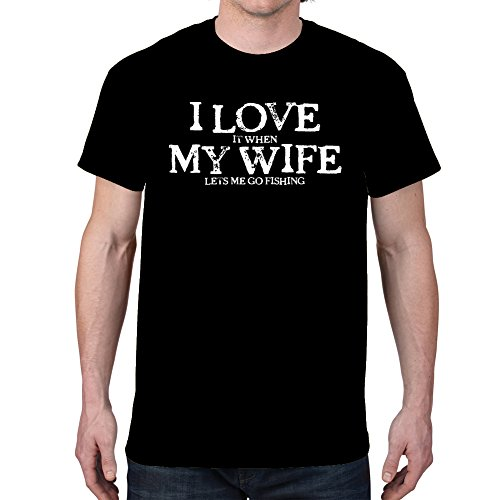 Mens-I-LOVE-MY-WIFEFISHING-Black-T-shirt