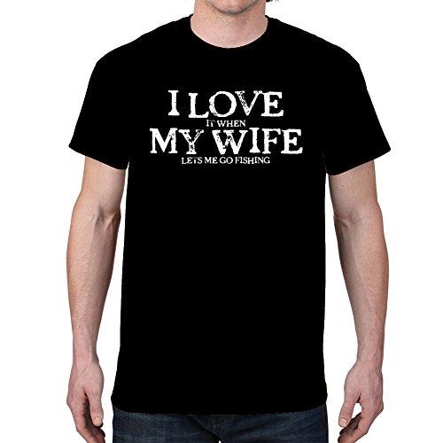 Mens LOVE FISHING Black T shirt product image