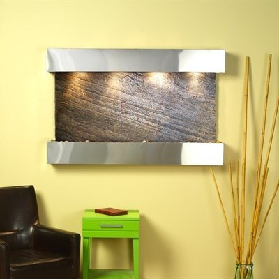 Adagio Sunrise Springs With Green Featherstone in Stainless Steel Finish and Squ