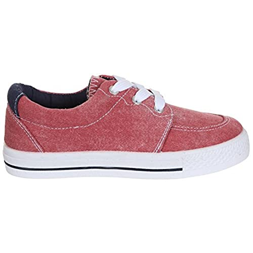 Capelli New York Boys Colored Denim Sneaker With Contrast Lining