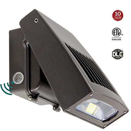 30W LED Wall Pack light with Dusk-to-Dawn Photocell, 0-90° Adjustable Head Waterproof Outdoor Lighting Fixture, 150-250W HPS/HID Replacement 5000K 3300lm ETL DLC Listed 10-year Warranty by Kadision