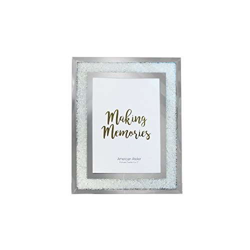 Jay Imports 5x7 Mirror Picture Photo Frame with Crushed Crystals by Jay Imports (Image #1)