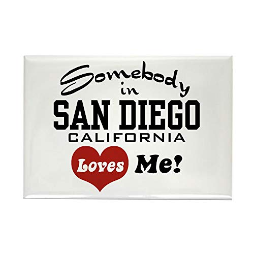 CafePress Somebody In San Diego Loves Me Rectangle Magnet, 2