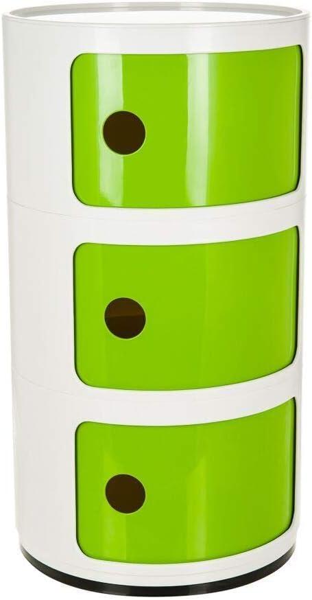 colore Costello/® Bianco 3 Tier White /& Blue Comodino con 2 3 4 5 cassetti