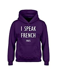 Indica Plateau I Speak French Fries Kids Hoodie