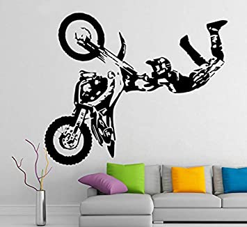 Vinilos Decorativos Motocross.Brillint Yy Vinilos Decorativos Pared Motocross Moto Bike