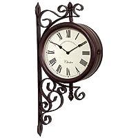 Jardin murale Horloge de gare et de température