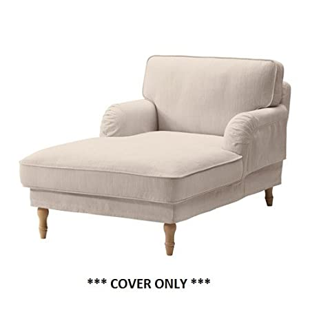 IKEA Stocksund - Cubierta para chaise Nolhaga beige de luz (solo ...