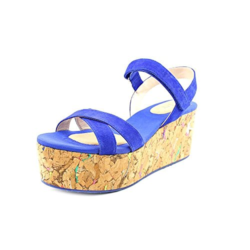 Dkny Franca Cork Wedges Size 8.5m Blue Dkny Cork Sandals