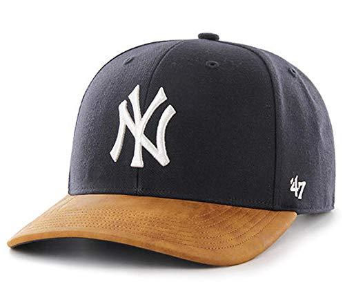('47 Mens Boston Red Sox New York Yankees Two Tone Baseball Cap Hat (Navy Tan Yankees, One Size))
