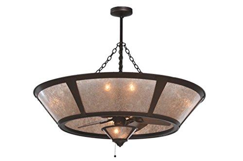 - Meyda Tiffany 108444 Van Erp Silver Mica with Fan Light Chandel-Air, 49