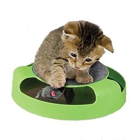 QNMM Atrapa El Ratón Juguetes Interactivos De Gato con Un Ratón Corriendo Y Una Almohadilla para