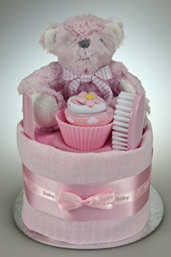 y Girl Single One Tier Nappy Cake Baby Shower New Baby Gift ()