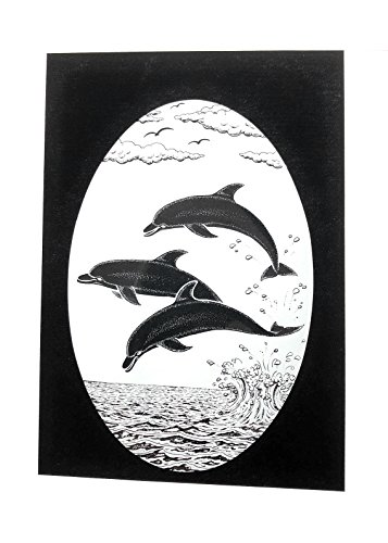 DCentral Dolphins Jumping Removable Window Decal. Look of Etched Glass. 4