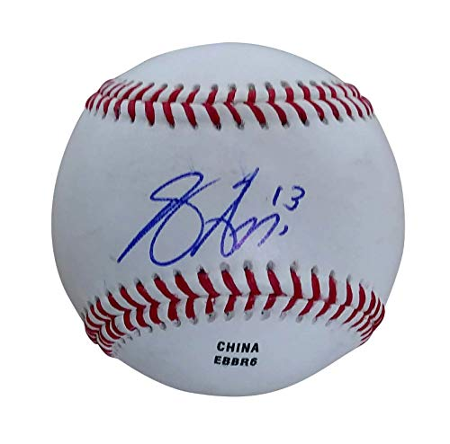 Texas Rangers Joey Gallo Autographed Hand Signed Baseball with Exact Proof Photo of Joe Signing and COA