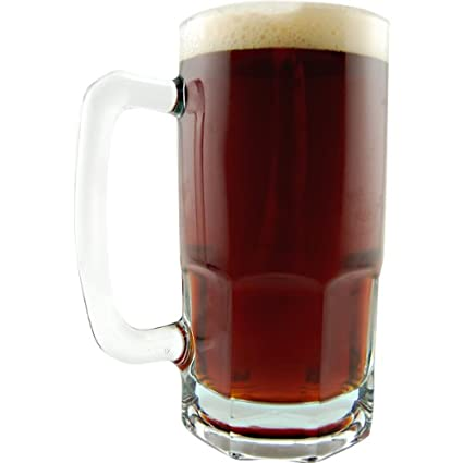 amazon com german style oktoberfest extra large glass beer mug