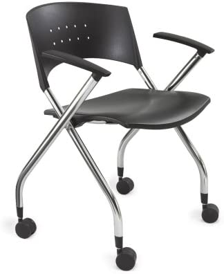 Safco Products xtc. Nesting Chair, Qty. 2 , Black