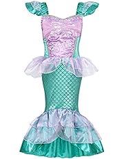 AmzBarley Kleine Zeemeermin Kostuum Ariel Dress up Meisjes Kids Visstaart Feest Fancy Jurken Halloween Kostuums Kleding Vakantie Verjaardag Outfit