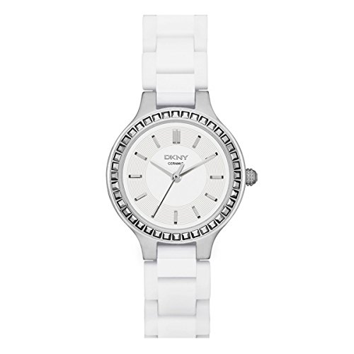 DKNY Chambers White Ceramic and Silver-Tone Stainless Steel Women's watch #NY2249