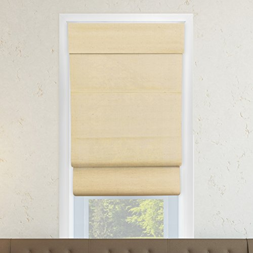 Chicology Cordless Double Layered Roman Shades Soft Fabric Window Blind 33