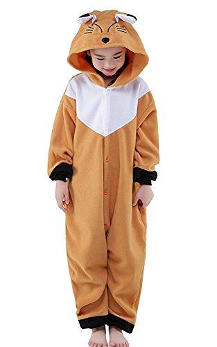 Eamaott Childrens Brown Fox Costumes Animal Onesies Kids Homewear Pajamas 105 for $<!--$23.99-->