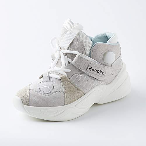 Sportive Clunky Sneaker Inverno Bianco Autunno Vansney Scarpe Mesh Donna da Traspiranti Scarpe 8808 Casual Piattaforma Scarpe 2018 qwRqnHFS