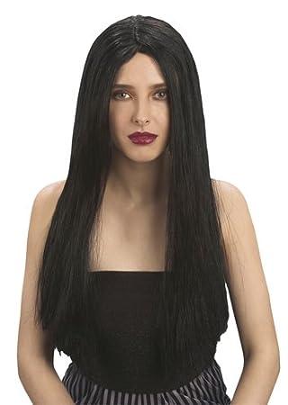 Peluca de pelo largo de bruja gótica negra pelucas WGT: Amazon.es: Juguetes y juegos