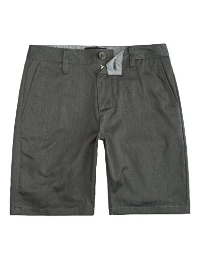 Shorts Mens Crown (Blue Crown Slim Stretch Chino Shorts, Heather Grey, 33)
