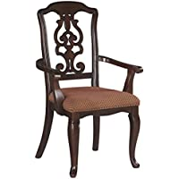 Ashley Gladdenville Dining Upholstered Arm Chair in Brown Cherry D578-01A (Set of 2)
