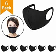 6pcs Wearable Indoors and Outdoors(Black)