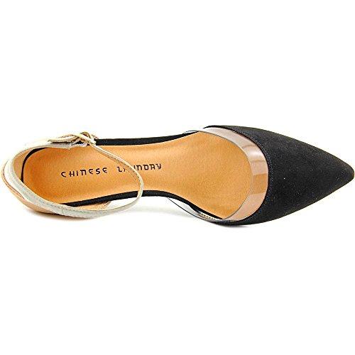 Scarpe Da Donna Cinesi Off Limits Sandali Con Cinturino Alla Caviglia Casual A Punta Nera